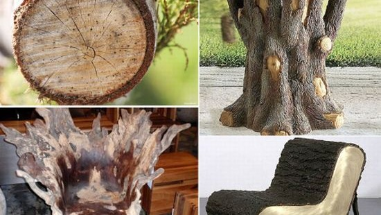 tree trunk furniture