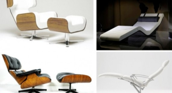 Various arm chairs and lounge chairs