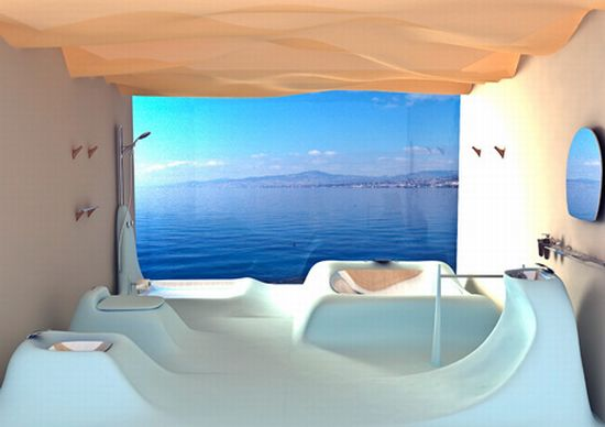 Mesmerizing waveflow bathroom interior hometone home for Home automation shower