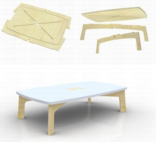 Xzis table can be assembled and disassembled in no time for Furniture that can be disassembled