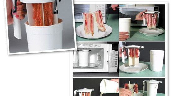 Wowbacon microwave cooker for hassle free cooking hometone for Decor bacon cooker