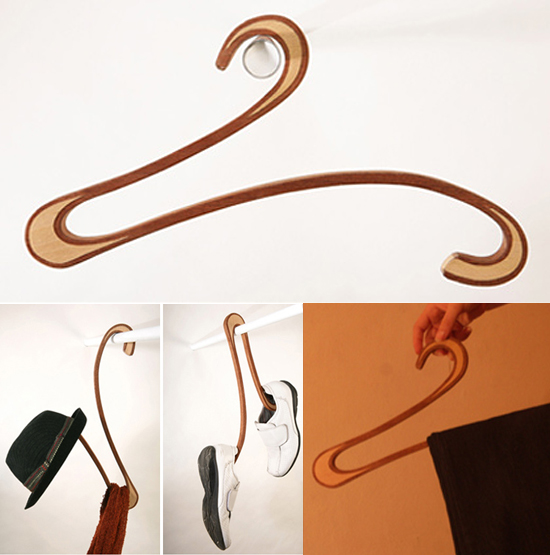 Swan coat hanger blends unique design with usability ...