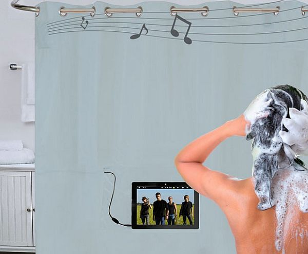 Shower tunes makes listening to music in the shower easier for Home automation shower