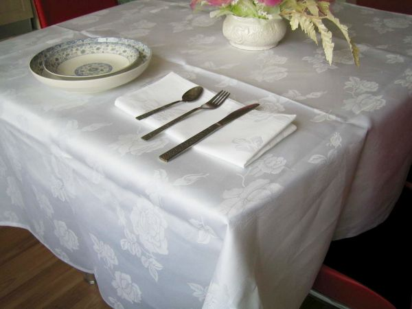 Damask Print Table Linen Designs