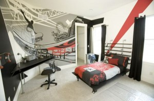 cozy-bedroom-interior-with-punk-interior-ideas
