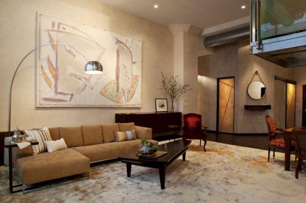 urban-loft-faux-finish-walls-bring-artistic-and-art-work-as-room-decor-ideas-915x608