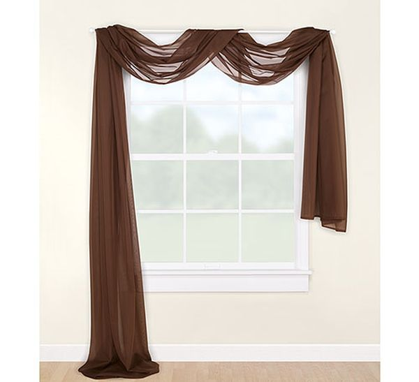 ... scarf round the curtains. You should consider either of the following