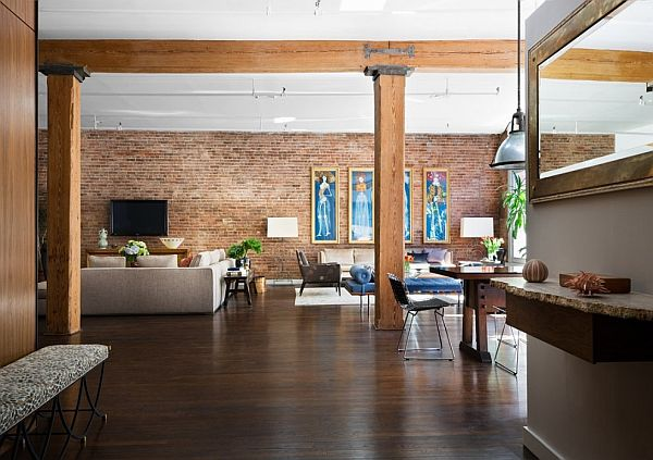 Brick-Wall-Studio-Apartment-by-Stephan-JAKLITSCH-GARDNER-open-plan-exposed-beam-living-dining