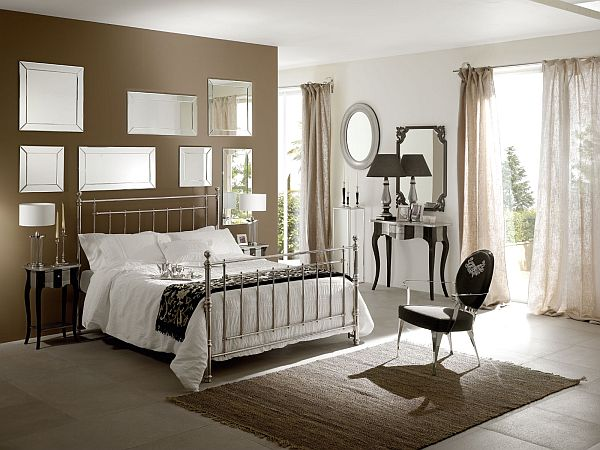 awesome-interior-bedroom-design-with-brown-Paint-Colors-for-Small-Bedrooms-with-Wall-Mirror-Decor
