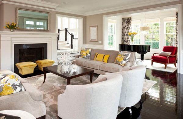 Fabulous-yellow-accents-brought-about-using-trendy-throw-pillows