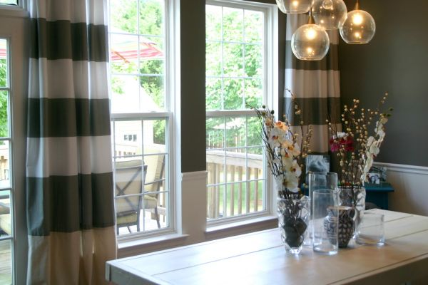 Striped Dining Room Curtains