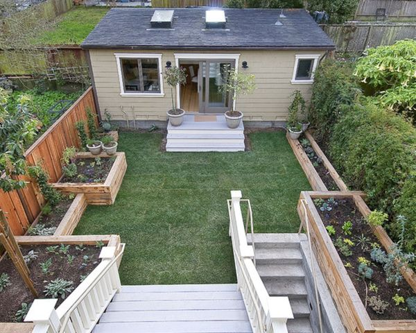 small-homes-with-plants-in-yard-made-from-wood-and-cement-Breathtaking ...