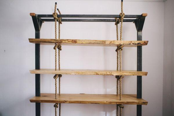 Rope Bookshelf