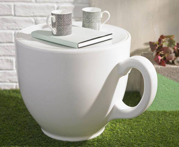 Teacup shaped stool