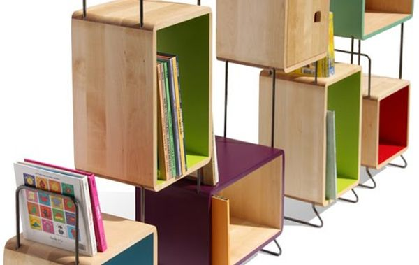Wooden Boxes Bookshelf