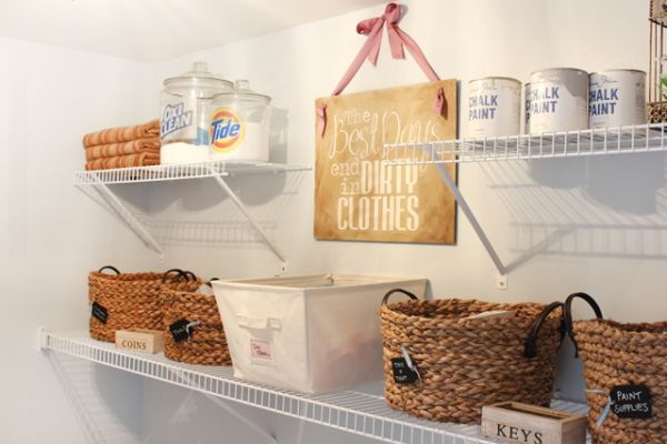 laundry room Letter shelves