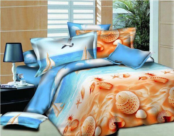 Beach print bed sheets