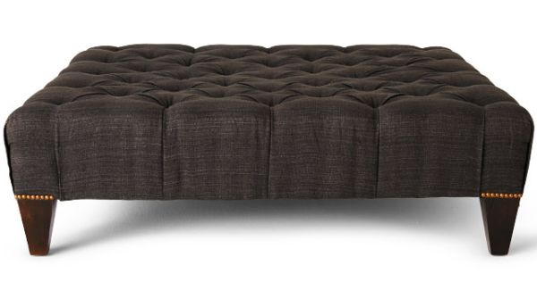 Chesterfield ottoman by canvas