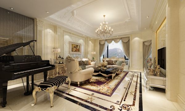 Glossy and glassy touch to the floor, walls, and ceiling