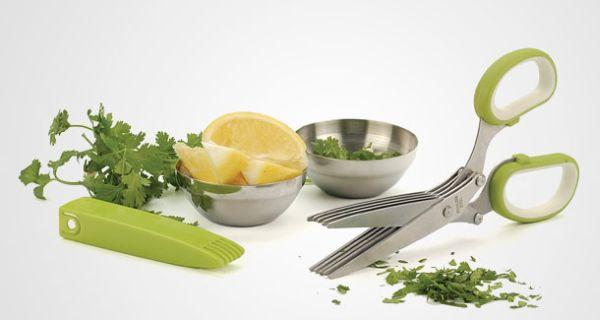 Quintuple bladed herb scissor