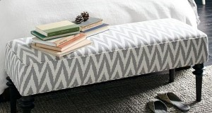 Upholstered bench by West Elm