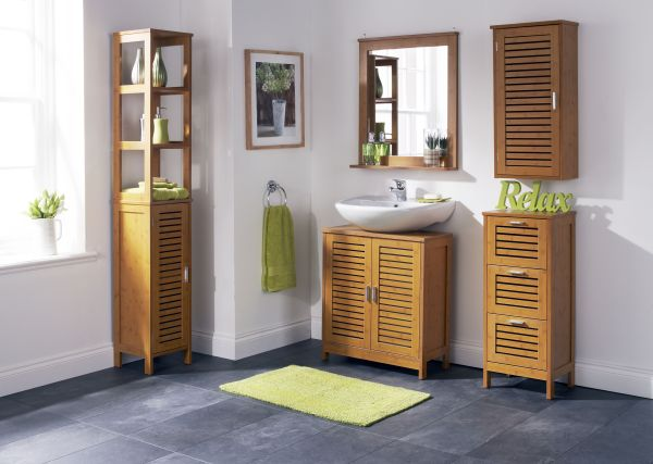 Employ Bamboo Bathroom Cabinets For Enhanced Home D Cor