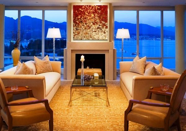 decoration of living room using Oil paintings_1