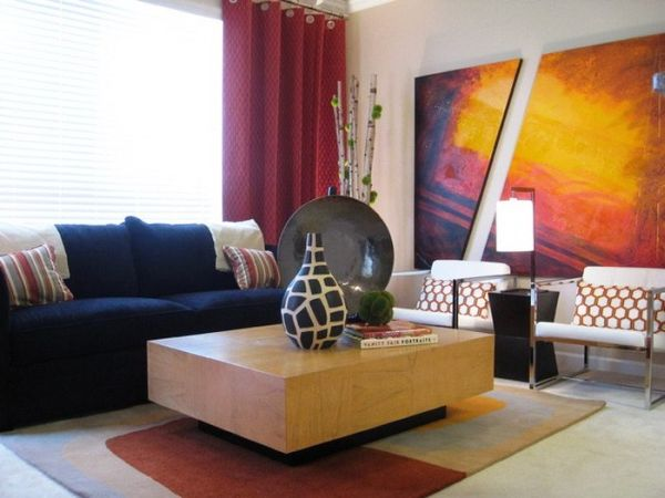 decoration of living room using Oil paintings_3