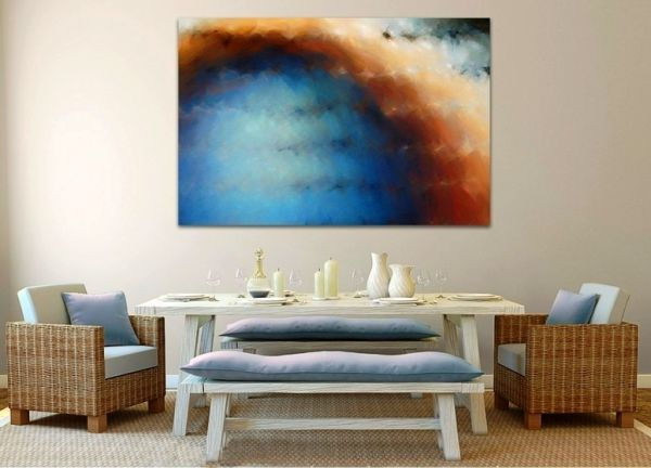 decoration of living room using Oil paintings_4