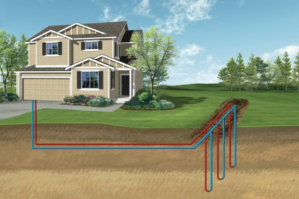 Working with geothermal energy for heating and cooling homes ...