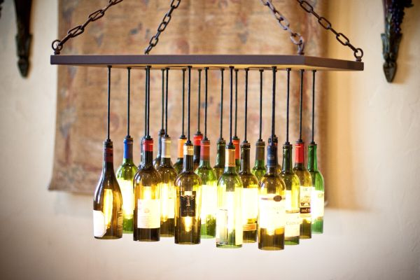 recycled Lamps or chandeliers