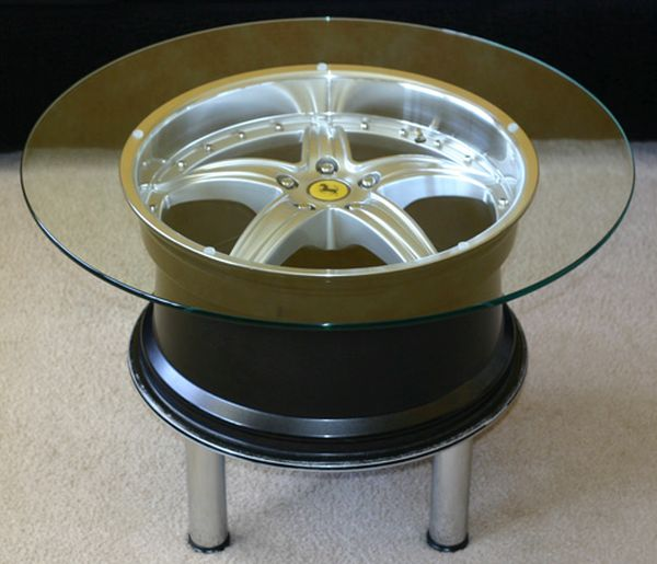 Unique Coffee Tables Carved Out of Auto Parts Hometone Home
