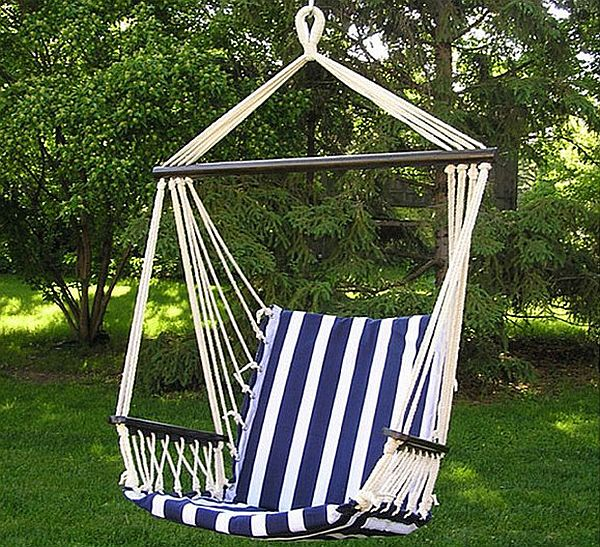 Cotton Padded Porch Hammock Chair