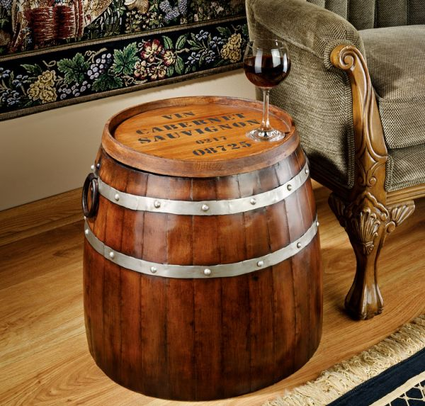 Recycled Barrel Furniture To Give A Classy Touch To Your
