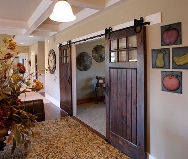 Install sliding barn doors