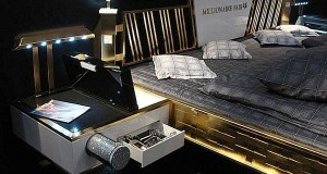 Jado Steel Style Gold Bed_1