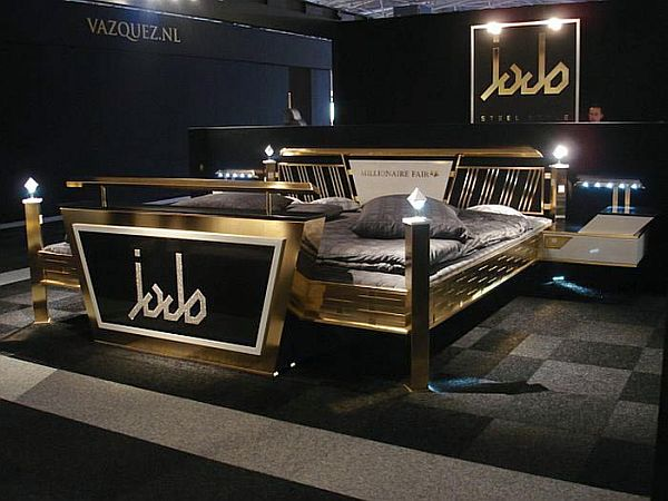 Jado Steel Style Gold Bed_2
