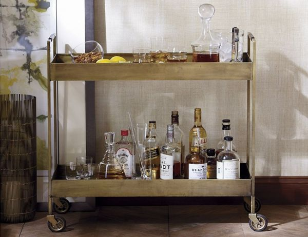 Metal Libations Bar cart