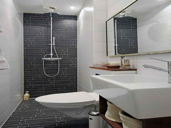 Monochrome can make bathroom look larger
