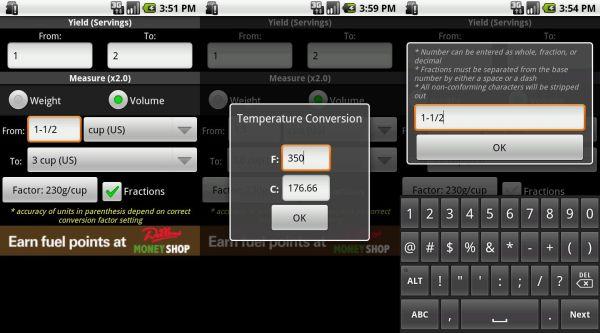 Recipe Convert app