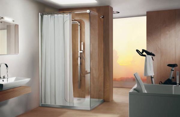 Shower curtains and sliding doors