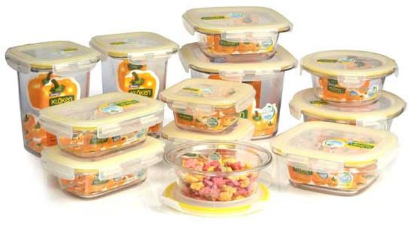 Storing food items in airtight containers