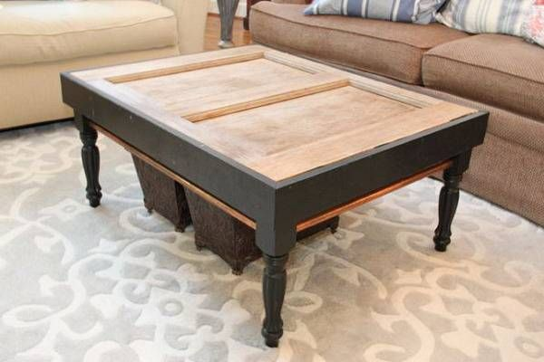 Stylish Coffee Table made form Old Door _2