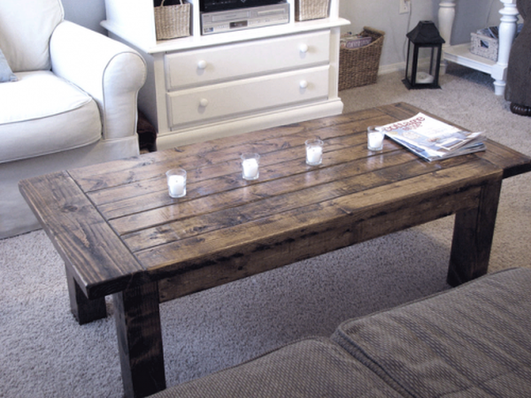 Stylish Coffee Table made form Old Door _3