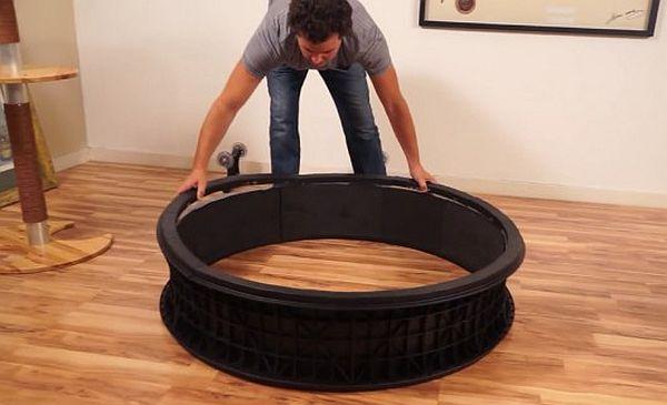 Беговое колесо для кошек сделать своими руками 6