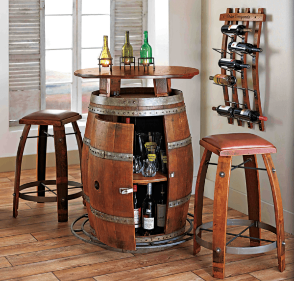 Wine Barrel Bistro Cooler Pub Table