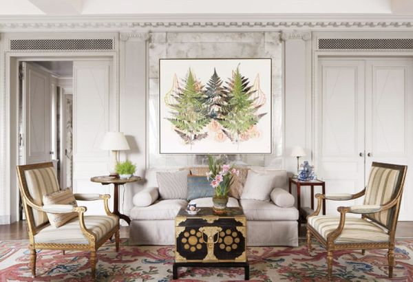 botanical art in Living Room_1