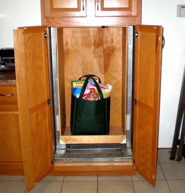 dumbwaiter is a small lift inside your home