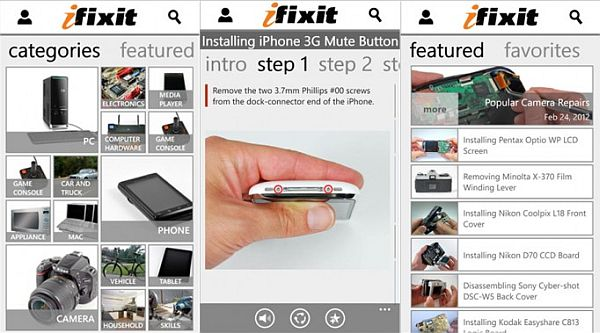 iFixIt app