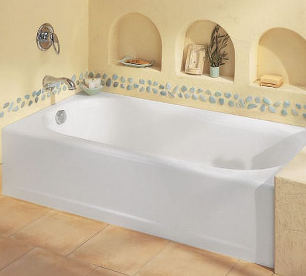 ledges beside the bathtub